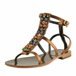 """Emanuela Caruso """"Capri"""" Women's Flat Sandals"""